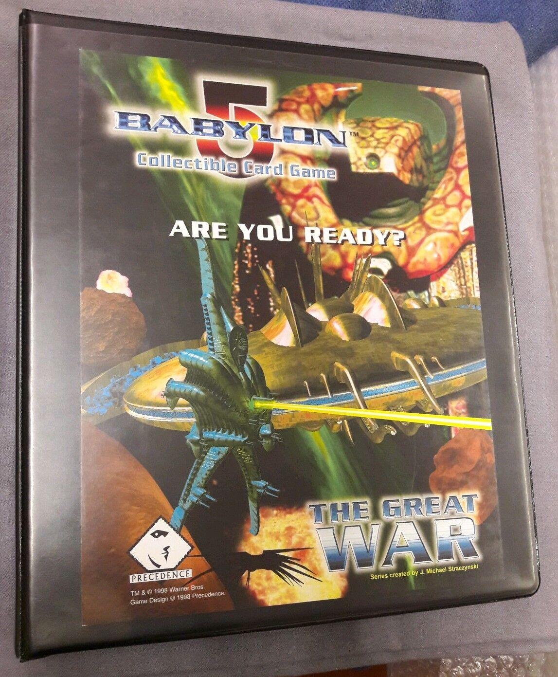 Babylon 5 CCG - Great War Expansion Set - - - 397 Cards in Binder