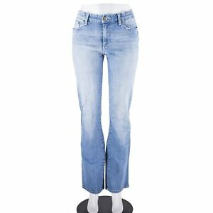 Seven-7-For-All-Mankind-Blue-Denim-Cotton-Washed-Zip-Fly-Straight-Leg-Jeans-SZ-6