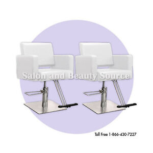 White styling chair chairs beauty salon equipment for Beauty salon furniture packages
