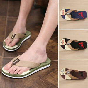 Summer-Men-039-s-Beach-Pool-Flip-Flops-Beach-Slippers-Home-Casual-Sandals-Flat-Shoes