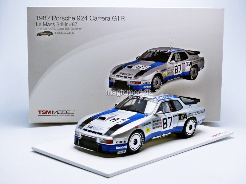 TSM Porsche 924 GT LE Mans 1982 Busby   Bundy in 1 18 Scale LE of 500 New