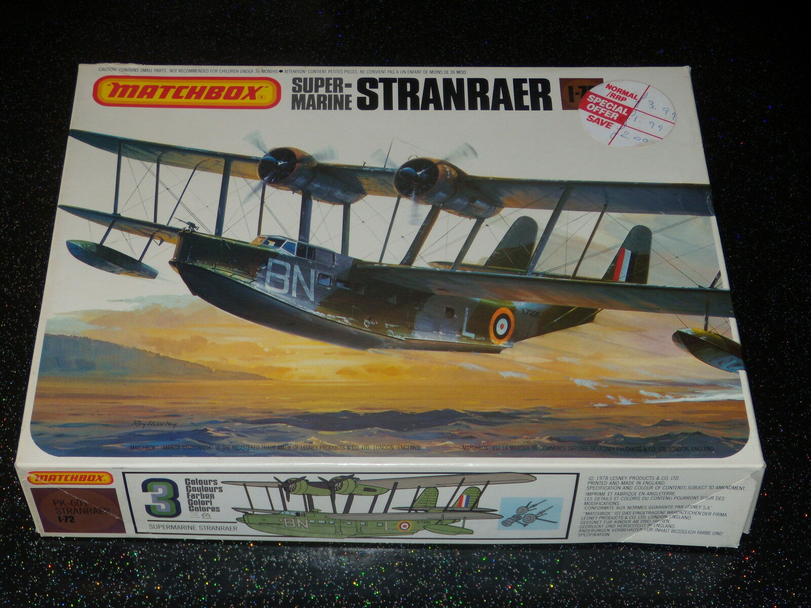 MODEL SUPERMARINE STRANRAER - MATCHBOX - PK- 601 - 1 72 - MODEL KIT