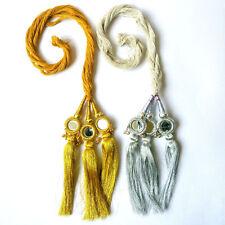 2 Piece Indian Bollywood Multicolor Paranda Parandi Hair Accessory Braid Tassles