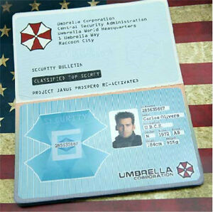 Evil Badge Id Customized Ebay Corporation Security Umbrella Card Passport Resident