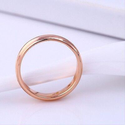 """9ct 9K Rose """"Gold Filled"""" Men Ladies Wedding Band Ring Various Sizes GIFT"""