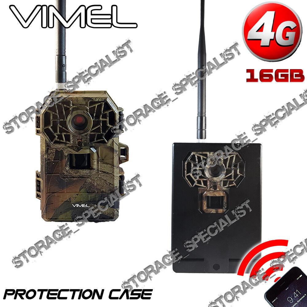 Cámara Trail 4G 16Mpx 3G Caja de projoección de metal de caza impermeable visión nocturna