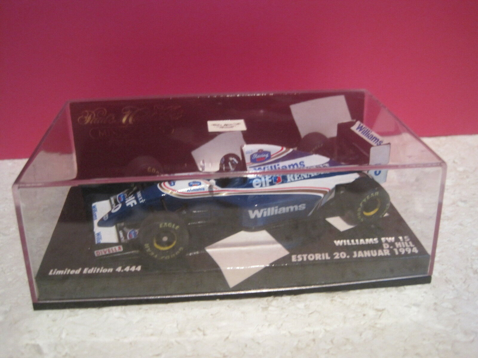 MINICHAMPS SUPERBE F1 WILLIAMS FW15 RENAULT D.HILL 1994  1 43 NEUF BOITE