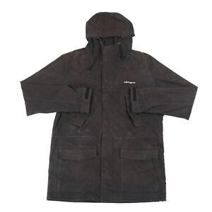 CARHARTT-Battle-Parka-Wip-Workwear-Coat-Vintage-Zip-Hooded