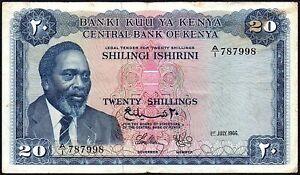1966-Kenya-20-Shillings-Banknote-A-1-787998-gF-P-3a