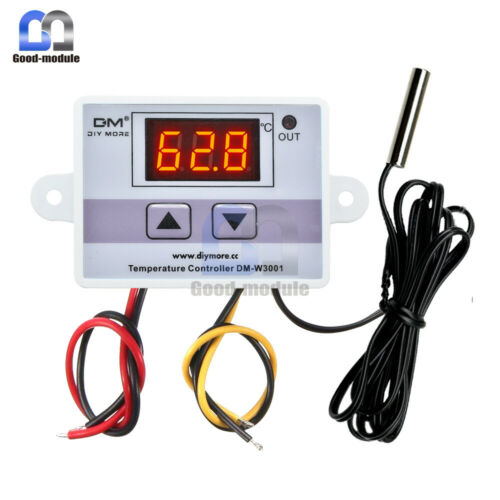 220V Digital LED Temperature Controller 10A Thermostat Control Switch Probe top