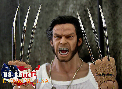 1//6 Wolverine Metal Claw Hands Realistic Hair Fist Steel Talons USA ❶IN STOCK❶
