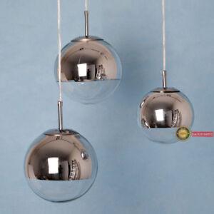 Image is loading Tom-Dixon-Chrome-Mirror-Glass-ball-pendant-l&- & Tom Dixon Chrome Mirror Glass ball pendant lamp Ceiling Light ...