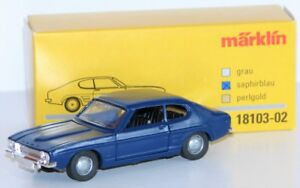 Marklin-1-43-18103-02-Ford-Capri-de-Metal-IN-Saphir-Bleu-Neuf-Emballage
