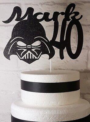 Superb Personalised Star Wars Cake Topper 6Th 8Th 10Th 13Th 40Th Etc Ebay Personalised Birthday Cards Fashionlily Jamesorg