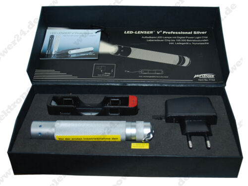 LED Lenser zweibrüder v2 professionnel silver 7742 lampe de poche lampe NEUF