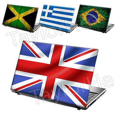 "National Flags 10"" 12"" 13"" 14"" 15.4"" 15.6"" 17"" Laptop Vinyl Skin Sticker Decal"