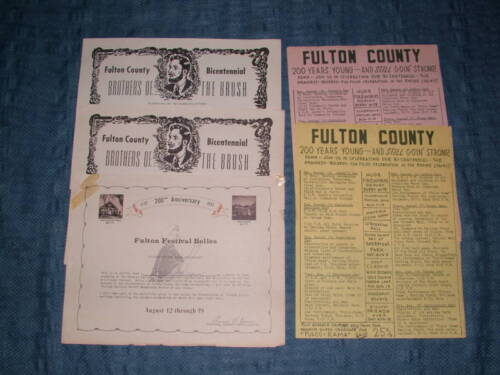 5 17721972 FULTON COUNTY NY SOUVENIR FESTIVAL PAPERS