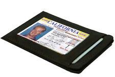 BLACK MENS LEATHER THIN SLIM Wallet Holder Money Credit 4 Card ID Front Pocket