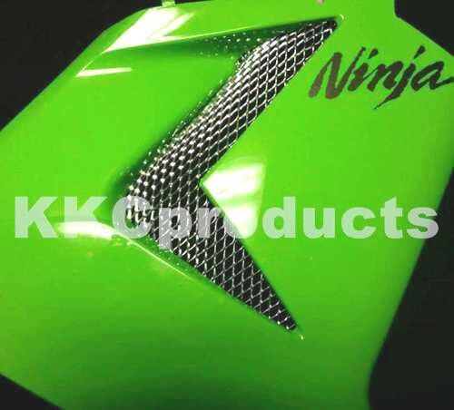 2006-2007 ZX10 Ninja 5pc WEP ZX10R ZXR Chrome Fairing Grilles Grills Screens New
