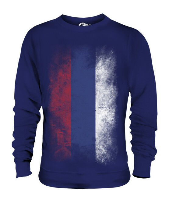 REPUBLIKA SRPSKA FADED FLAG UNISEX SWEATER TOP GIFT SHIRT CLOTHING JERSEY
