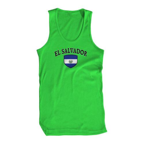 El Salvador Flag Crest Bandera National Country Pride Mens Tank Top