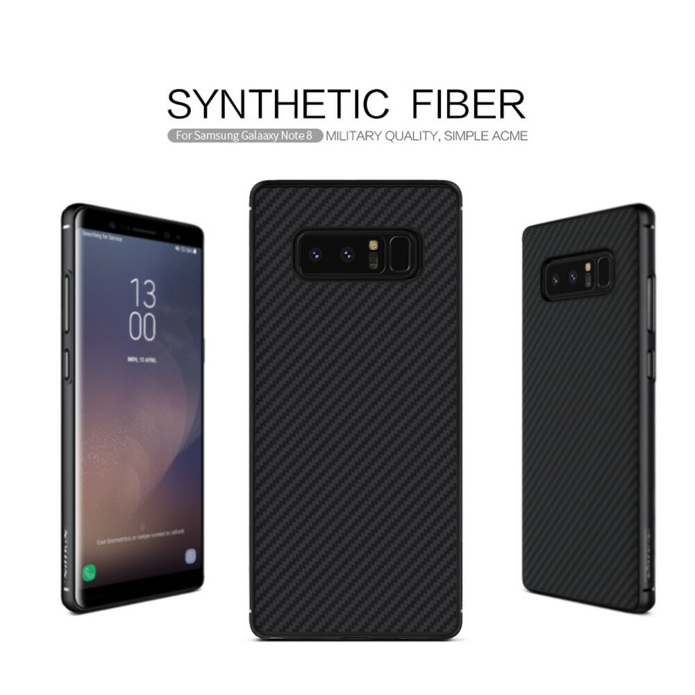 best loved b45e7 46bb2 Nillkin Synthetic Carbon Fiber Matte Back Cases Covers for Samsung Galaxy  Note 8
