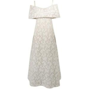 ARNOLD SCAASI White Floral Wedding Gown with Sequins Size 6