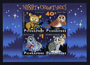 SINGAPORE-2003-Night-Creatures-Miniature-sheet-MNH