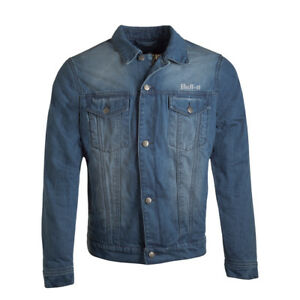 Bull-it-Men-039-s-Tracker-17-SR6-Denim-Motorcycle-Jacket-Light-Blue-RRP-199-99