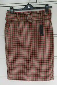 Ambitious Mark & Spencer Smart Check Skirt Size 12 Regular Bnwt Clear And Distinctive