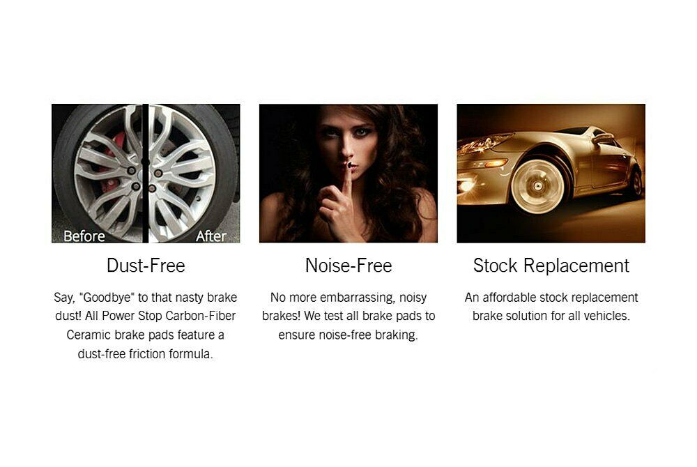 For Porsche Boxster 97-12 Z16 Evolution Clean Ride Ceramic Rear Disc Brake Pads