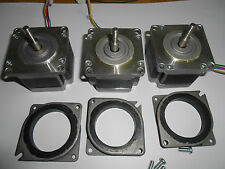 3 NEMA 23 STEPPER MOTORS -CNC MILL LATHE ROBOT REPRAP taig lathe power feed 3
