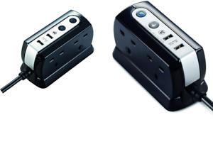 Masterplug-1M-4-Gang-Compact-Surge-Extension-Lead-with-USB-Black-srgdu41pb2