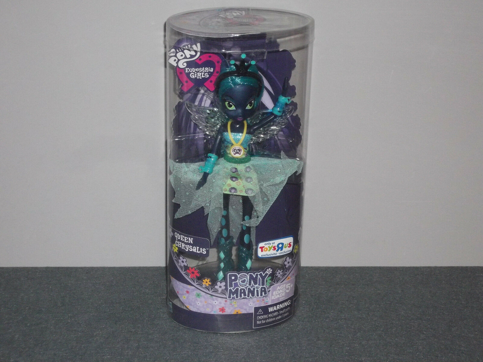 MY LITTLE PONY EQUESTRIA GIRLS MANIA QUEEN CHRYSALIS TOYS R US EXCLUSIVE