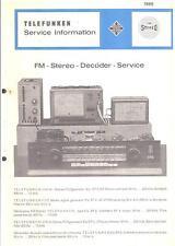 Telefunken Service Manual für FM-Stereo-Decoder 1966
