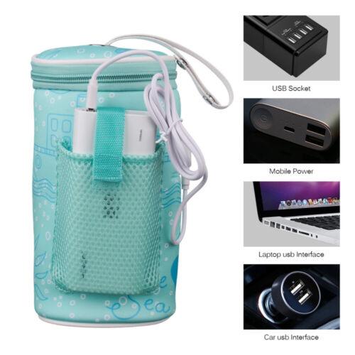 USB Portable Baby infant Bottle Warmer Travel Mug Milk Warmer Feed Bottle Heater