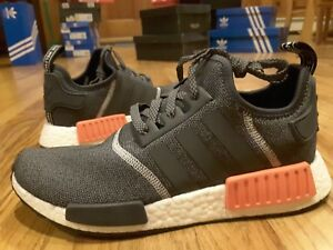 New Adidas Nmd R1 Wool S31510 Dark Grey Orange Semi Solar Red