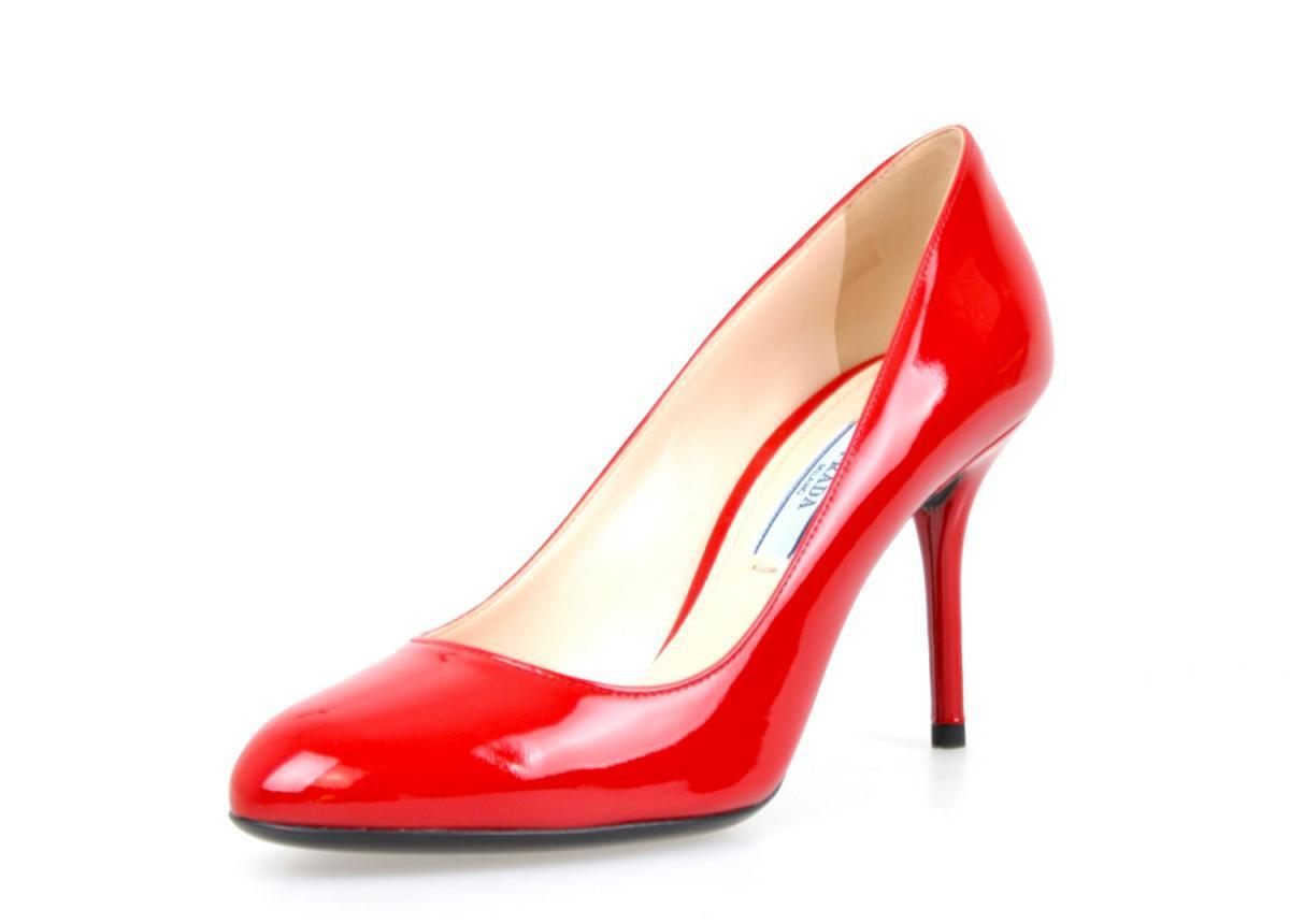 AUTHENTIC LUXURY PRADA PUMPS SHOES 1I628D RED NEW US 6 EU 36 36,5