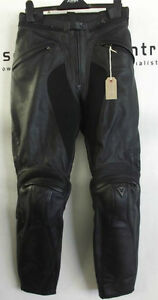 Dainese-Ladies-Firefly-Black-Leather-Motorcycle-Trousers-EU-44-UK-12