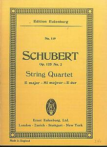 Schubert-String-Quartet-op-125-No-2-E-dur-Taschenpartitur