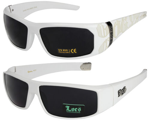 2er Pack Locs 9052 Choppers Rad Brille Sonnenbrille Männer Frauen schwarz weiß