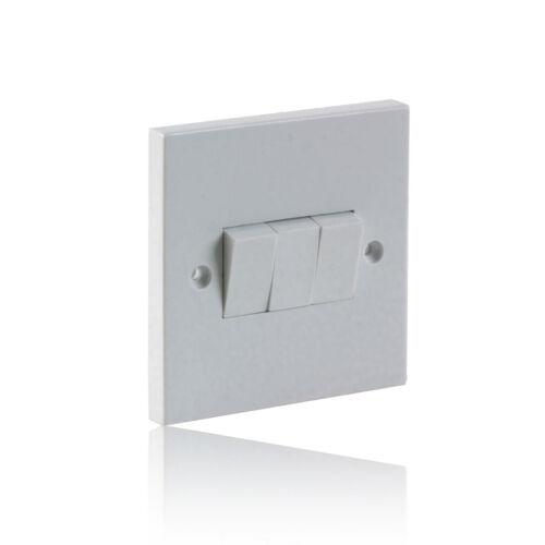 Triple Gang 2 Way Light Switch 10A White