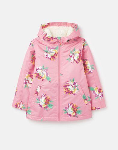 Joules Girls 211218 Waterfall Raincoat Pink Heritage Floral