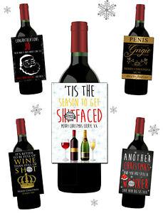 Novelty-Christmas-Wine-Bottle-Label-Work-Secret-Santa-Gift-Rude-Funny-Insulting