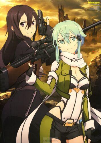 Poster A3 Sword Art Online 2 Kirito Sinon SAO Manga Anime Cartel Decor Otaku 05