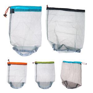 Outdoor-Travel-Camping-Ultralight-Mesh-Stuff-Sack-Drawstring-Storage-Bag-Pouch