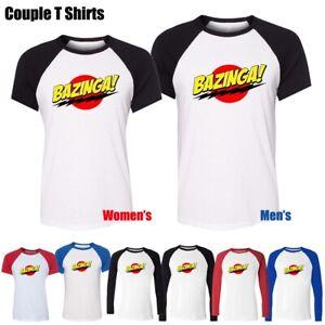 Men-039-s-Women-039-s-Bazinga-Big-Bang-Theory-Sheldon-Cooper-Graphic-Tee-Couple-T-shirt