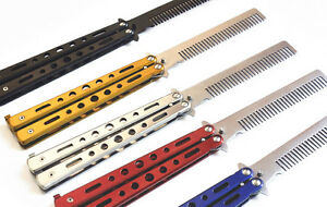 Practice-Training-Butterfly-Style-Stainless-Steel-Comb-Tool-Outdoor-Comb