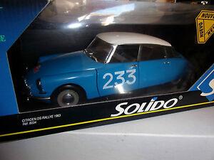 1-18-SOLIDO-CITROEN-DS-RALLYE-MONTE-CARLO-233-BLUE-WHITE-1963-NEUF-EN-BOITE
