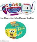 Fisher Price Fun 2 Learn Computer Cool School Software Sponge Bob Game CD